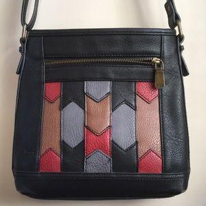 b.o.c Vegan Leather Crossbody Bag BlackMultiColor